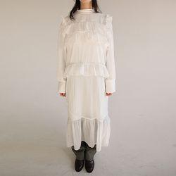 frill crease long dress (2colors)