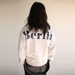 semi crop lettering sweatshirt (3colors)