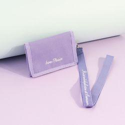 [리미티드] 벨크로 목걸이 카드지갑 바이올렛(AG2N9217OAVV)