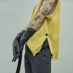 side button knit vest (4 color) - UNISEX