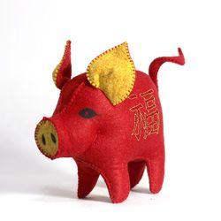[일구돼지인형] 소확행 복돼지-돼지인형수제완성품