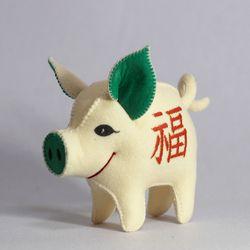 [일구돼지인형] 아들램 복돼지-돼지인형수제완성품