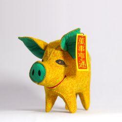 [일구돼지인형]만사형통돼지 골드-돼지인형수제완성품