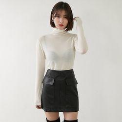 [로코식스] 레이 텐셀 폴라 티셔츠