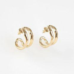 Line Ring Earrings (gold)