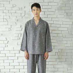 러블리체크 세미트윌 남성잠옷
