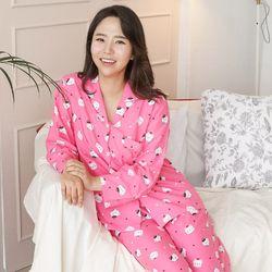 야옹야옹 세미트윌 여성잠옷