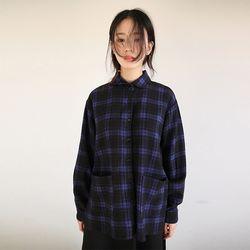 peterpan collar check shirt (3colors)