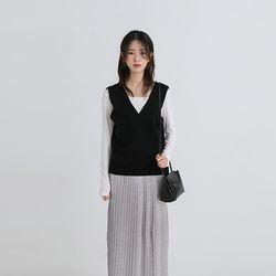 mark wool lap vest (4colors)