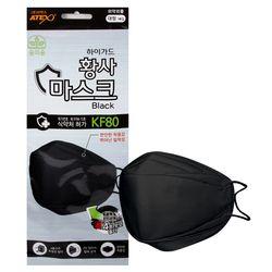 하이가드 황사 마스크 성인용 블랙 1매입 KF80