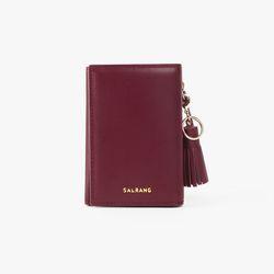 REIMS W014 Folder3 pocket Wallet Burgundy