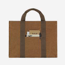스퀘어 서류가방 - 왁스캔버스 ( 카멜 )