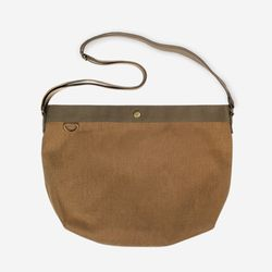 Daily Cross Bag - Wax Canvas ( 카멜 )