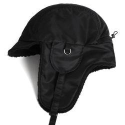 빅사이즈 귀도리캡 18F PLATEAU EAR FLAP CAP BLACK