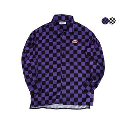 CHECKERBOARD OVERFIT SHIRT(2COLOR)UNISEX