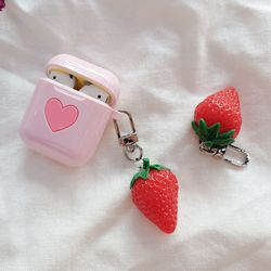 딸기 에어팟키링
