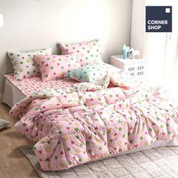 코너샵 짱구 잠옷 이불패드세트 Q 핑크