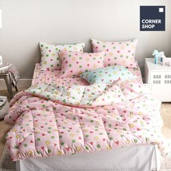 코너샵 짱구 잠옷 이불패드세트 S 핑크