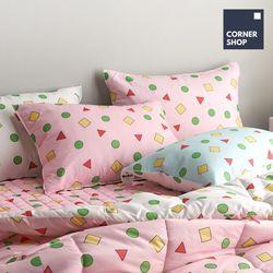 코너샵 짱구 잠옷 베개커버 핑크