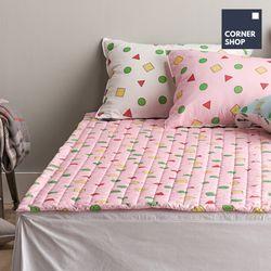 코너샵 짱구 잠옷 카페트 Q 핑크