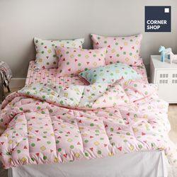 코너샵 짱구 잠옷 이불 S 핑크