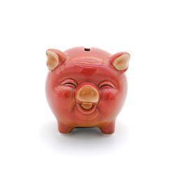 동글동글 돼지 저금통 장식