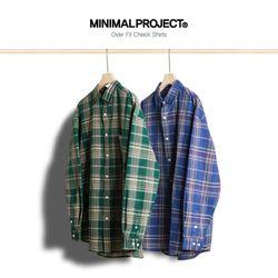미니멀프로젝트 오버핏 체크 셔츠 MLS209  2color