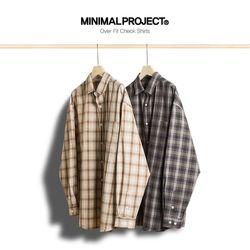 미니멀프로젝트 오버핏 체크 셔츠 MLS208  2color