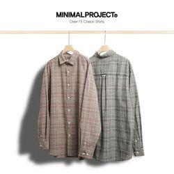 미니멀프로젝트 오버핏 체크 셔츠 MLS205  2color
