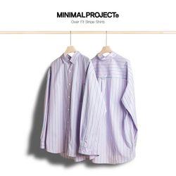 미니멀프로젝트 오버핏 스트라이프 셔츠 MLS203