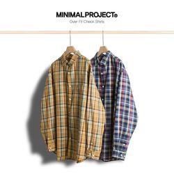 미니멀프로젝트 오버핏 체크 셔츠 MLS207  2color