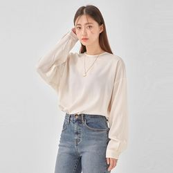 pure back button blouse