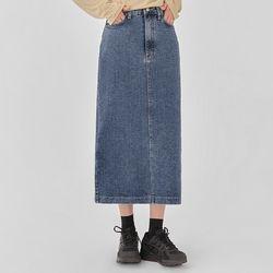 jenner denim long skirt (s m)