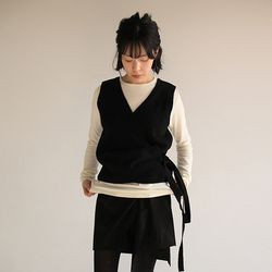 wrap strap knit vest (3colors)