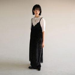 velvet lace slip dress (2colors)