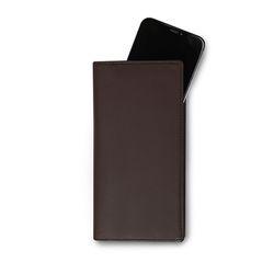 Flat Long ( 스마트폰 수납 장지갑 ) Dark Brown