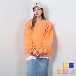 2413 롤리 오버핏 맨투맨 티셔츠 (5colors)