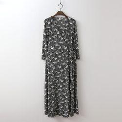 Bella Wrap Long Dress