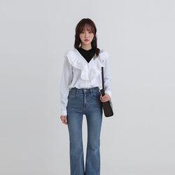 end frill blouse (2colors)