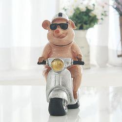 핑크 돼지 오토바이