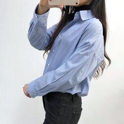 그레이썸 앤드 루즈핏 스트라이프 봄 셔츠