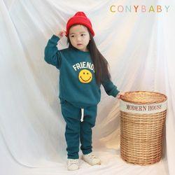 [CONY]프렌즈 사계절 맨투맨 상하복세트(청록)