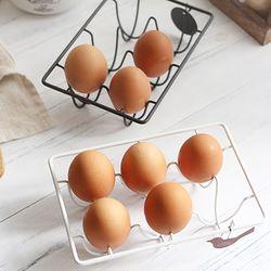 철제 에그랙 계란홀더 (2color)