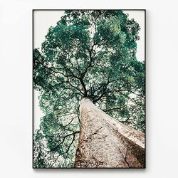 메탈 인테리어 식물 자연 풍경 포스터 액자 나무 ver.2 [대형]