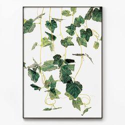 메탈 인테리어 식물 북유럽 포스터 액자 그린 넝쿨 [대형]