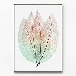 메탈 인테리어 식물 나뭇잎 그림 포스터 액자 Leaves [대형]