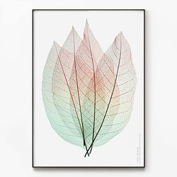 메탈 인테리어 식물 나뭇잎 그림 포스터 액자 Leaves [초대형]