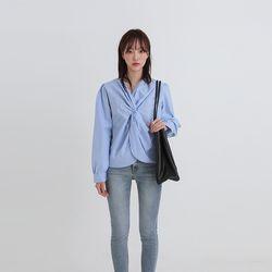 crispy twist blouse (2colors)