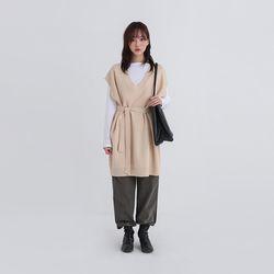 strap long vest (2colors)