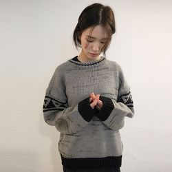 black point line vintage knit